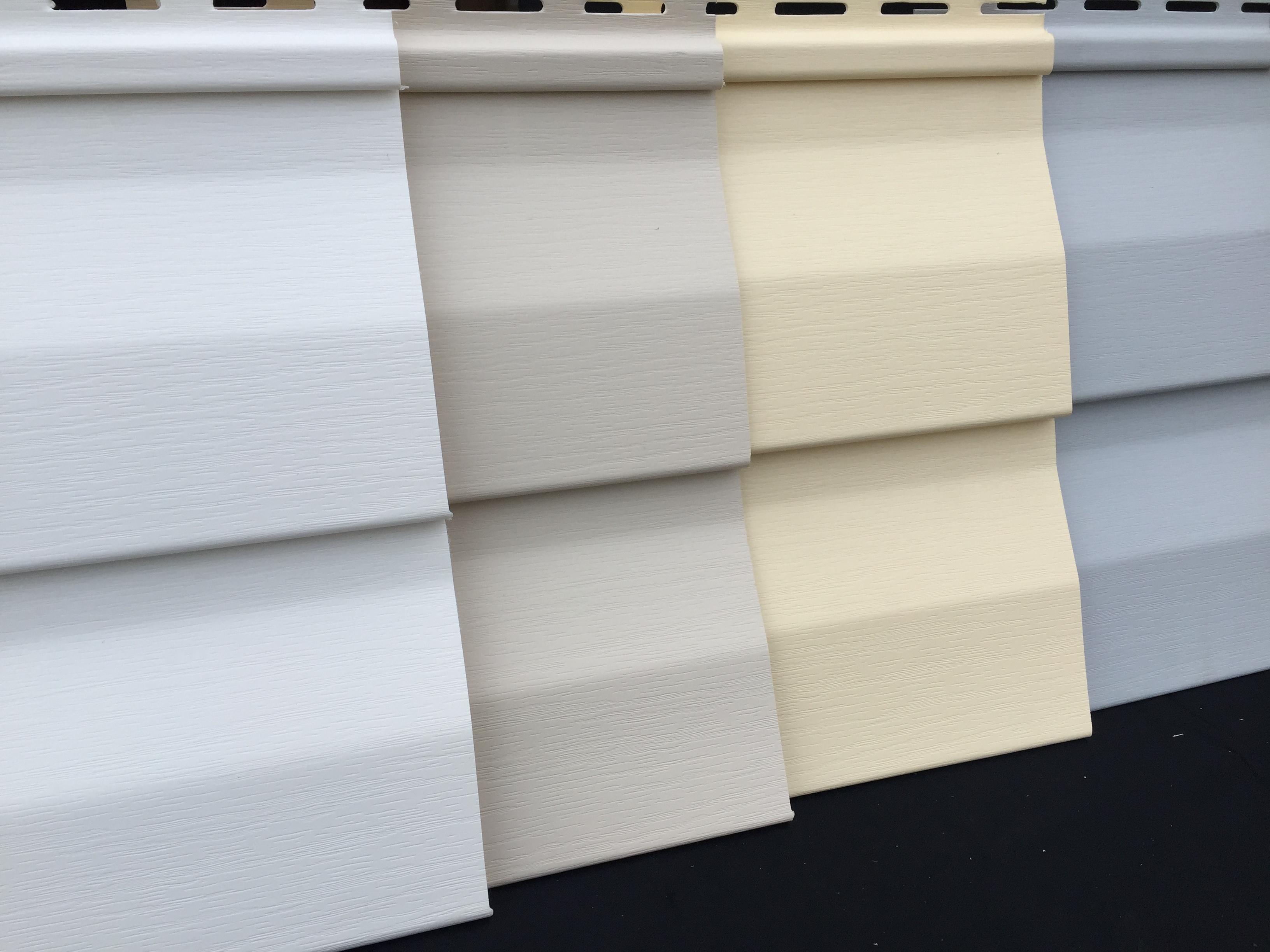 Bardage pvc clin vinyle couleurs pastel - Clin pvc exterieur ...